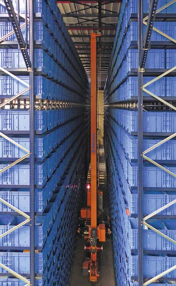 Groupe LORCA's automated warehouse for boxes in Lemud, France
