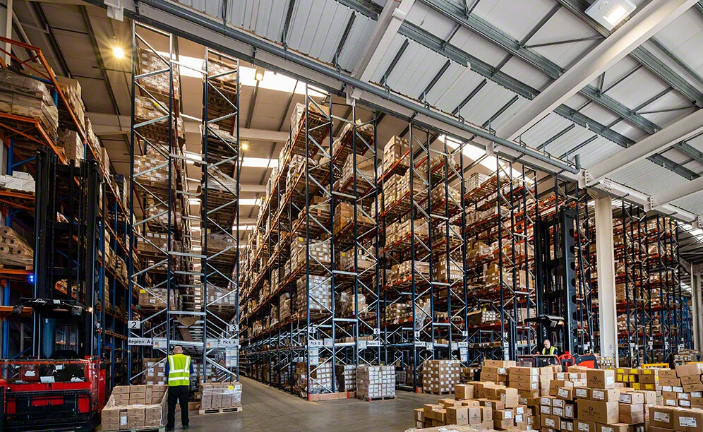 Churchill China warehouse in UK with ceramic tableware