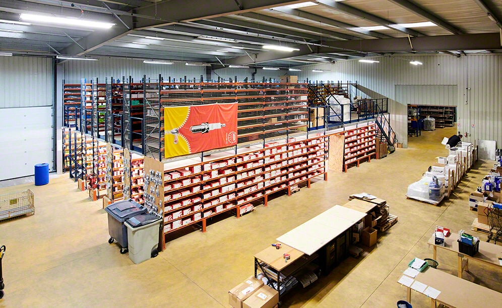 The warehouse of Eagle Spare Parts, spare parts supplier
