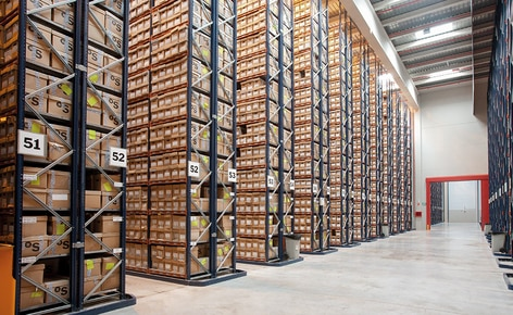 The document archive of Banco de Sabadell reaches a capacity of 658,236 boxes by installing pallet racking with shelves