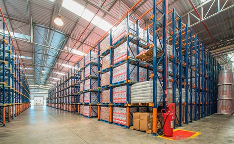 The Laticínios Bela Vista storage facility has a warehousing capacity of 6,320 pallets
