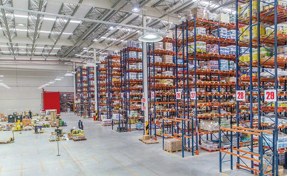 The classification of goods as per their characteristics and turnover means operations are well organised and picking tasks are done swiftly