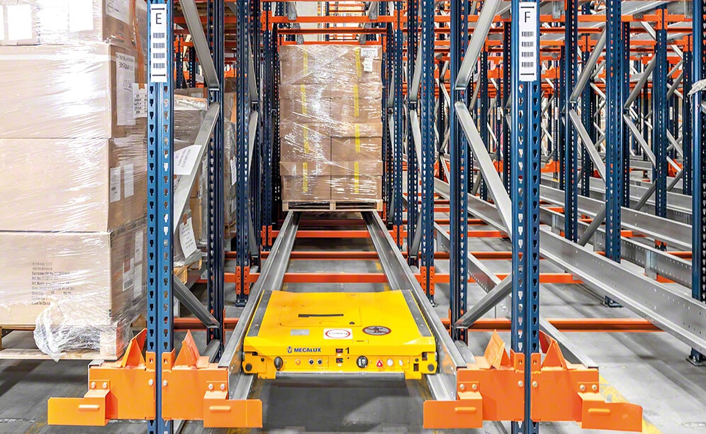 Mecalux has supplied the Pallet Shuttle system in the distribution centre vente-privee
