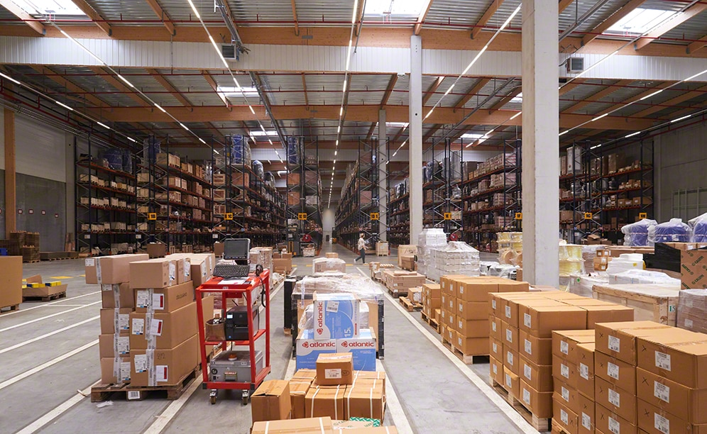 The industrial parts warehouse of Sofinther in France