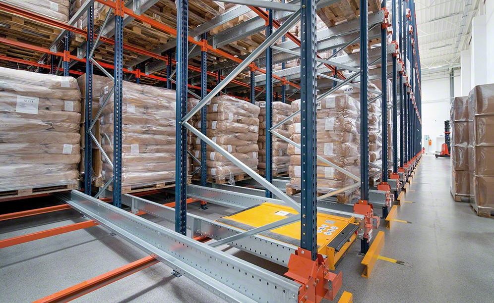 Eggs Product's main warehouse has been equipped with the Pallet Shuttle system