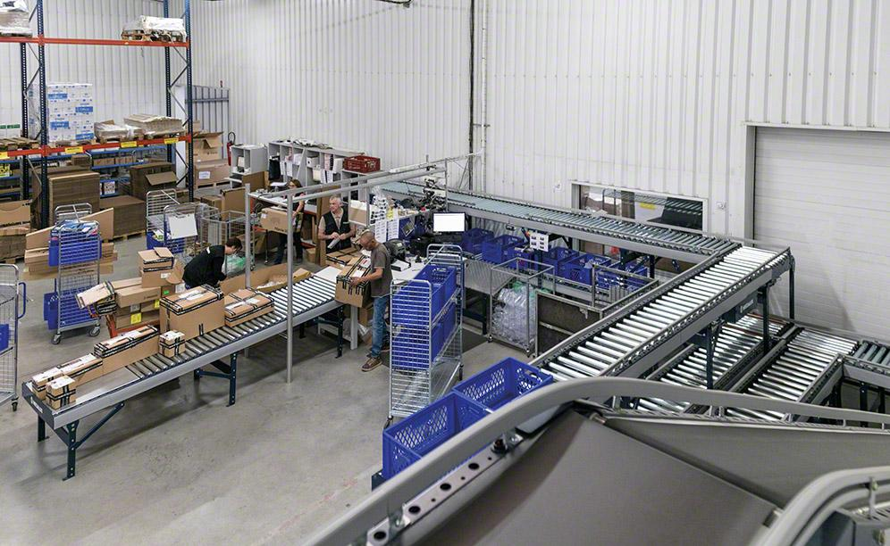 The order consolidation zone in the Algam warehouse