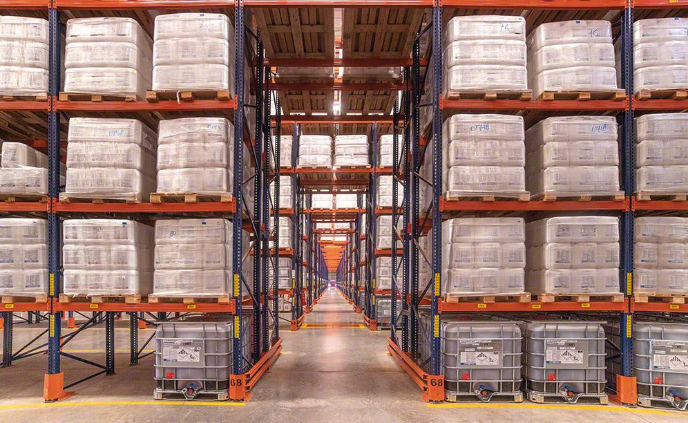 Pallet racks for Bravo's argochemical products