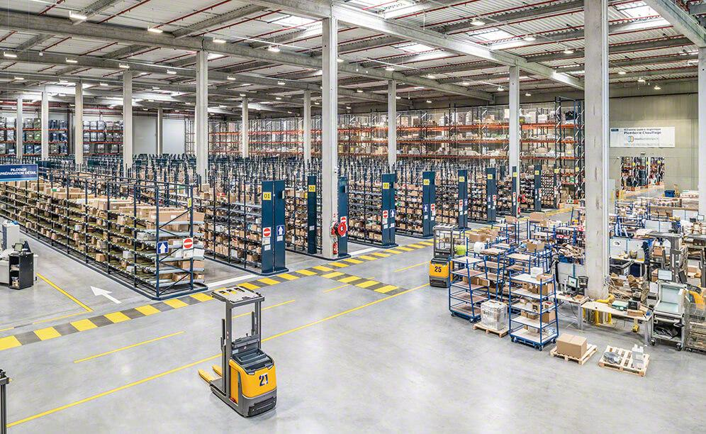 Rexel's electrical material warehouse in Cestas (France)