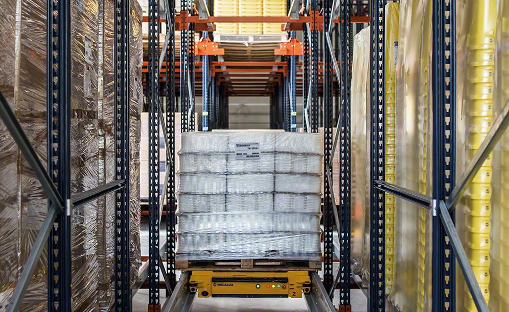 Semi-automatic Pallet Shuttle System in the ANVI Plasturgie warehouse in France