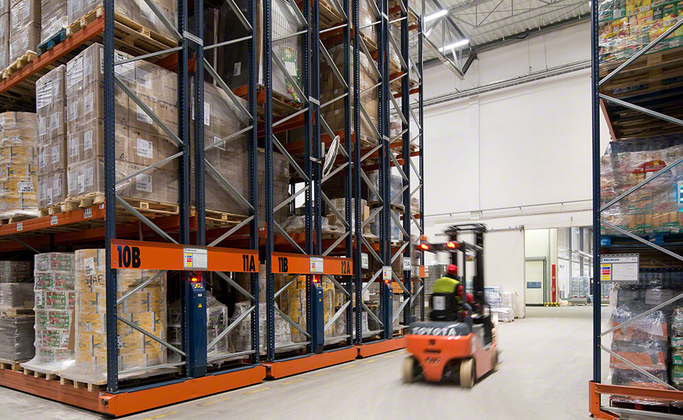 The Refresco soft drinks and juice container warehouse in Poland