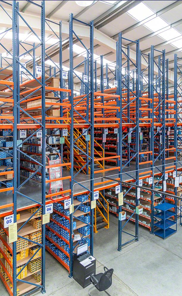 Storage for picking with walkways for Grupo Morsa in Mexico