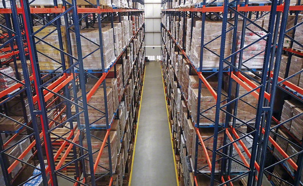 The Super Nosso online supermarket warehouse in Brazil