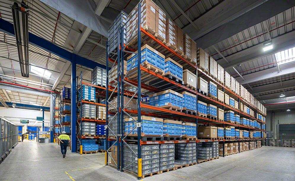 Denso warehouse in Barcelona with three Mecalux storage systems