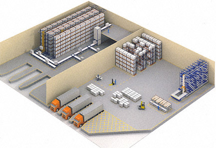 Layout Warehouse Storage 3D