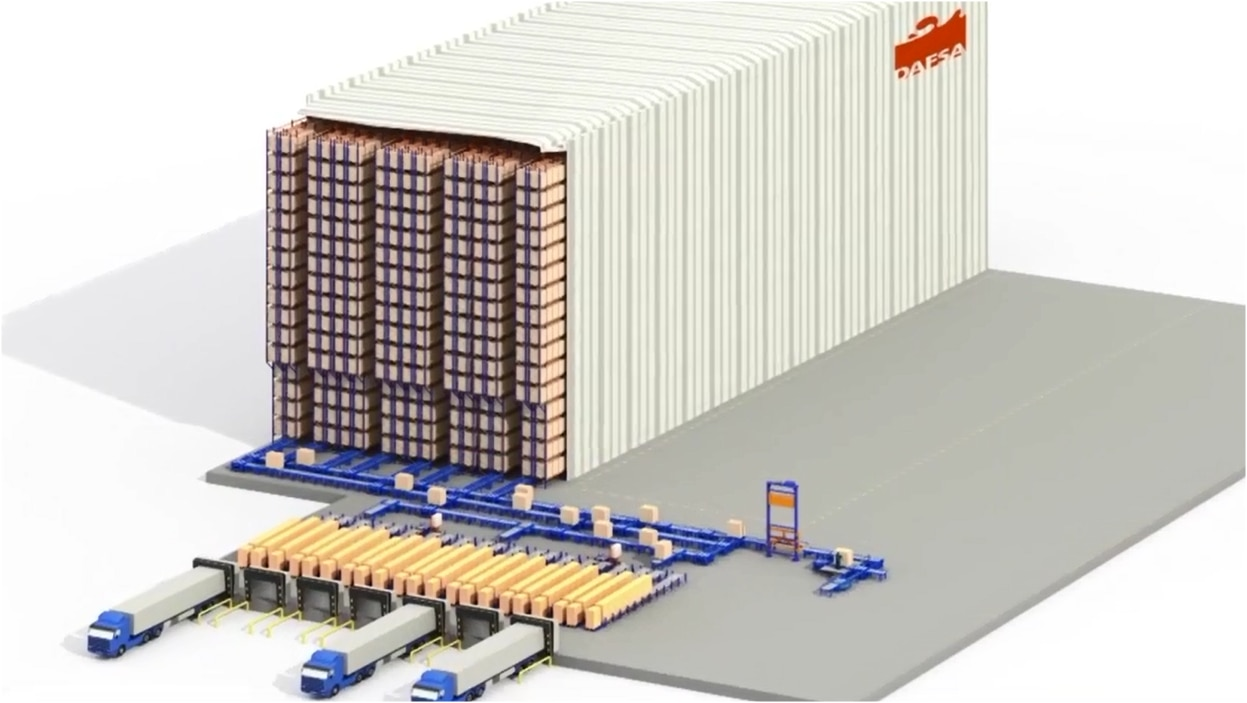 Mecalux builds an automated clad-rack warehouse with a capacity for more than 23,000 pallets
