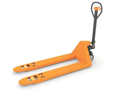 Manual pallet trucks are used for a variety of auxiliary warehouse fulfillment tasks