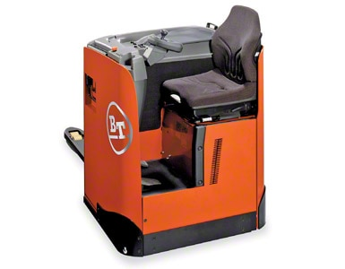 Electric rider pallet truck with seat