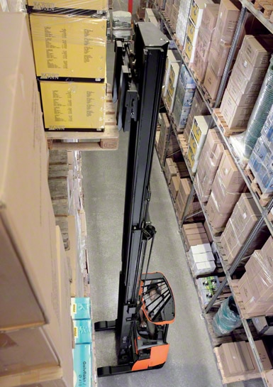 Reach trucks are the most commonly used equipment to work inside warehouses