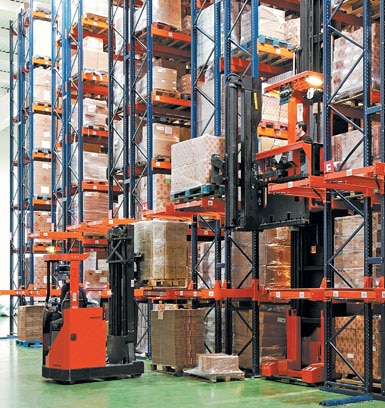 Warehouse for construction machinery and tools.