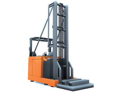 Bilateral turret truck is another example of narrow aisle forklift
