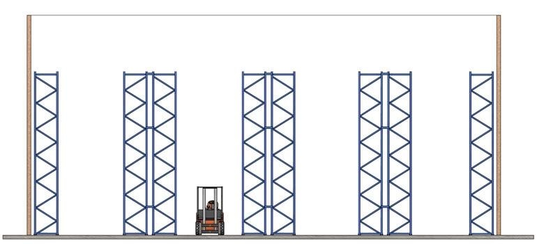 Normal distribution of pallet racks