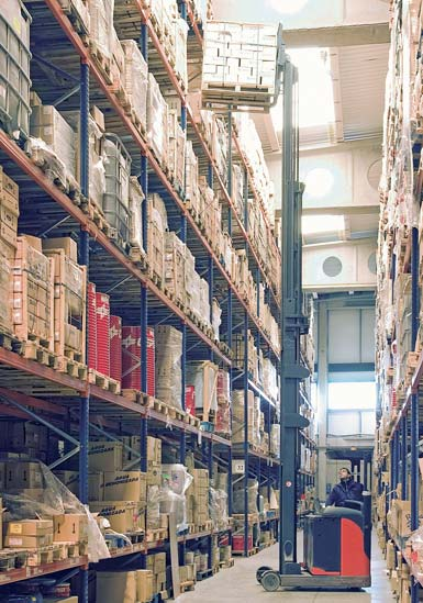 Warehouse of a logistics operator