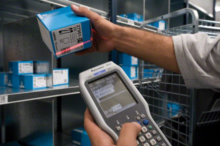 Barcodes in warehouses