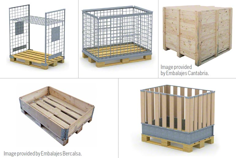 Industrial wooden crates and containers