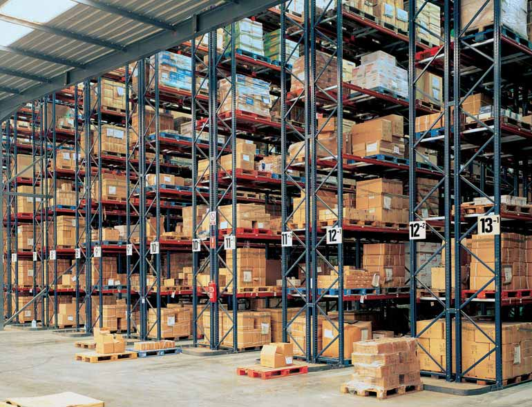 Mixed warehouse.