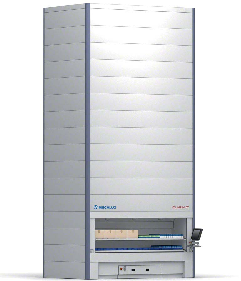 Goods-to-person vertical storage module
