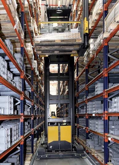 Warehouse for an electronic components manufacturer.