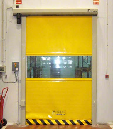 Roll-up door.