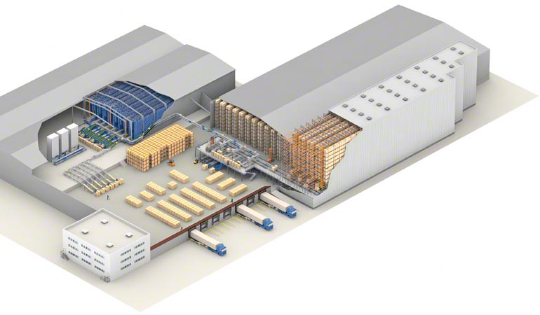 The design of a central warehouse