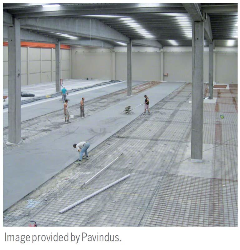 Warehouse floor leveling