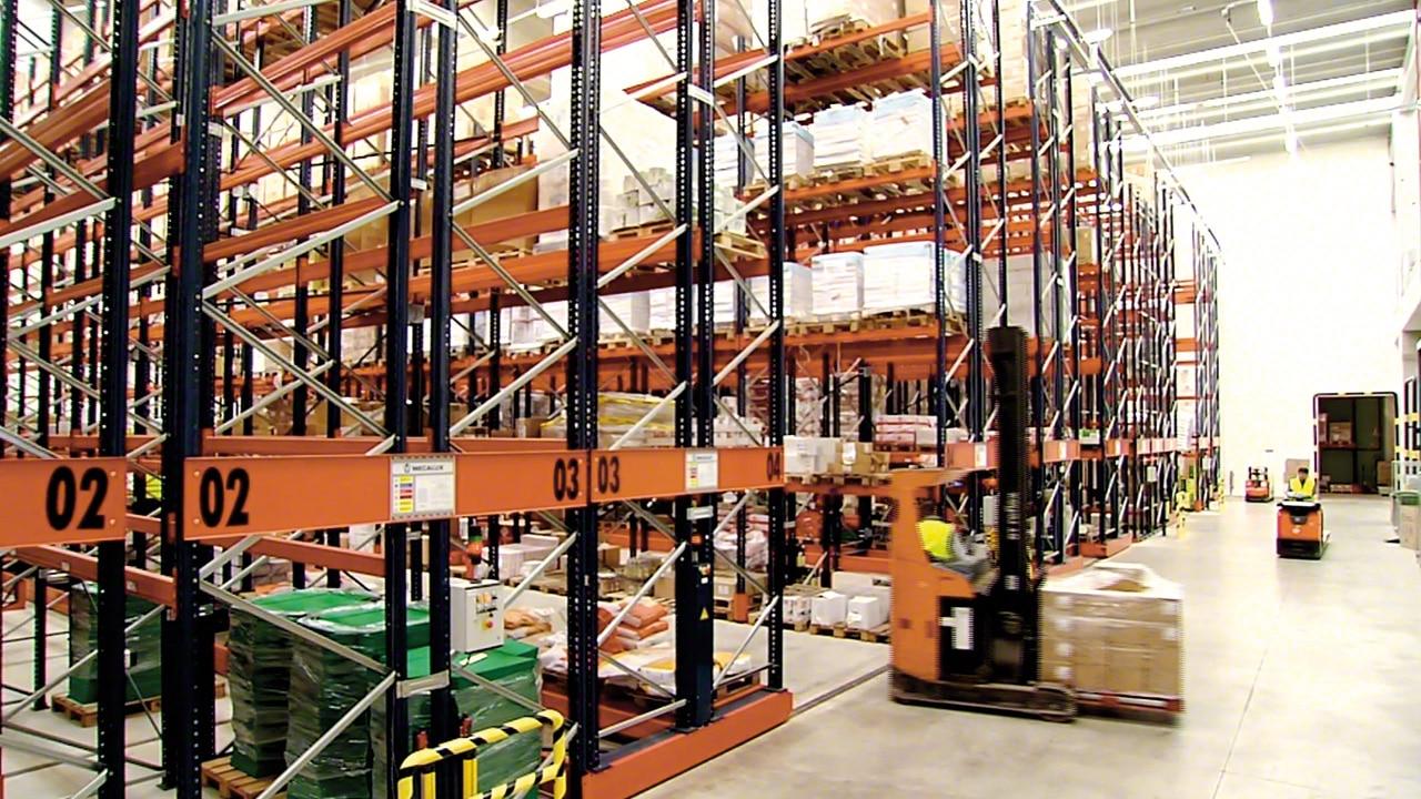 Case study mobile pallet racking Movirack: Havi Logistics