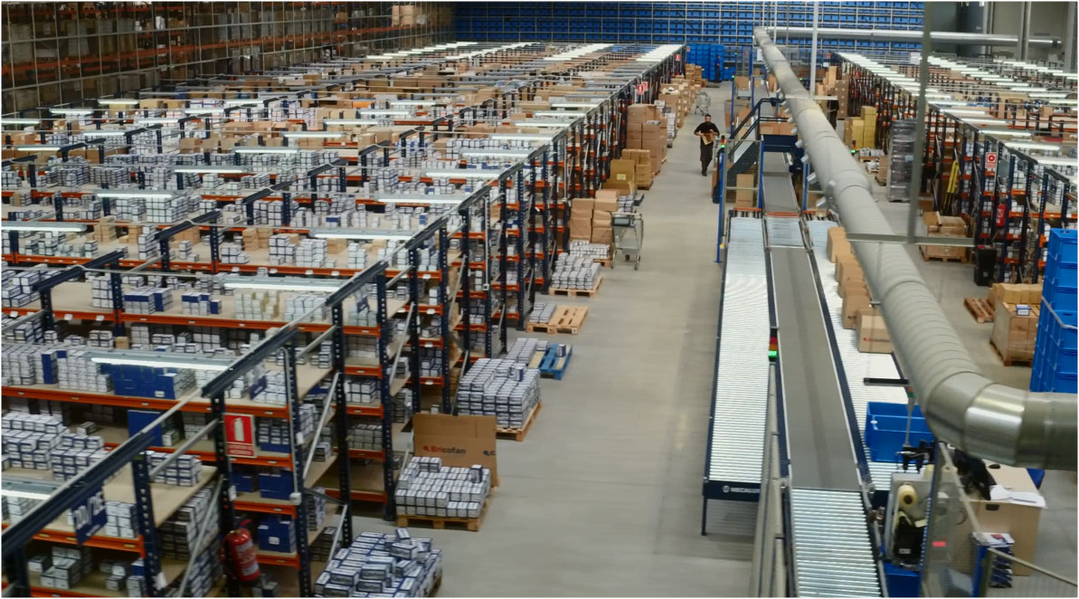 Case study: Storage system for manual picking of Cofan