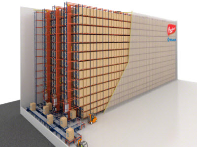 Panettone of Bauducco in a new automated clad-rack warehouse in Brazil