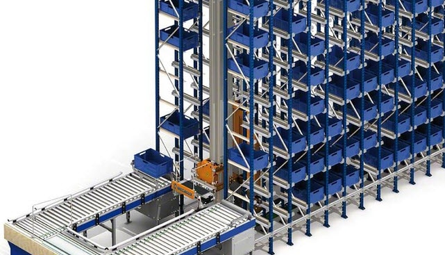 The mechanized parts of Project will be housed in a new automated warehouse for boxes of 35 m in length