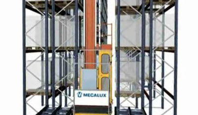 Simple cycle extraction stacker cranes for pallets