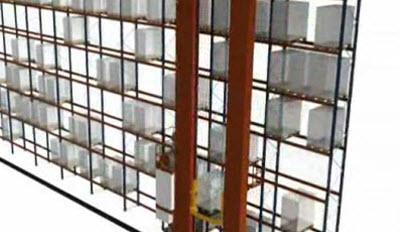 Twin-mast cranes in single deep racks: Combined cycles