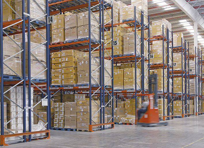 Pallet Shuttle and pallet racks for Eurofred