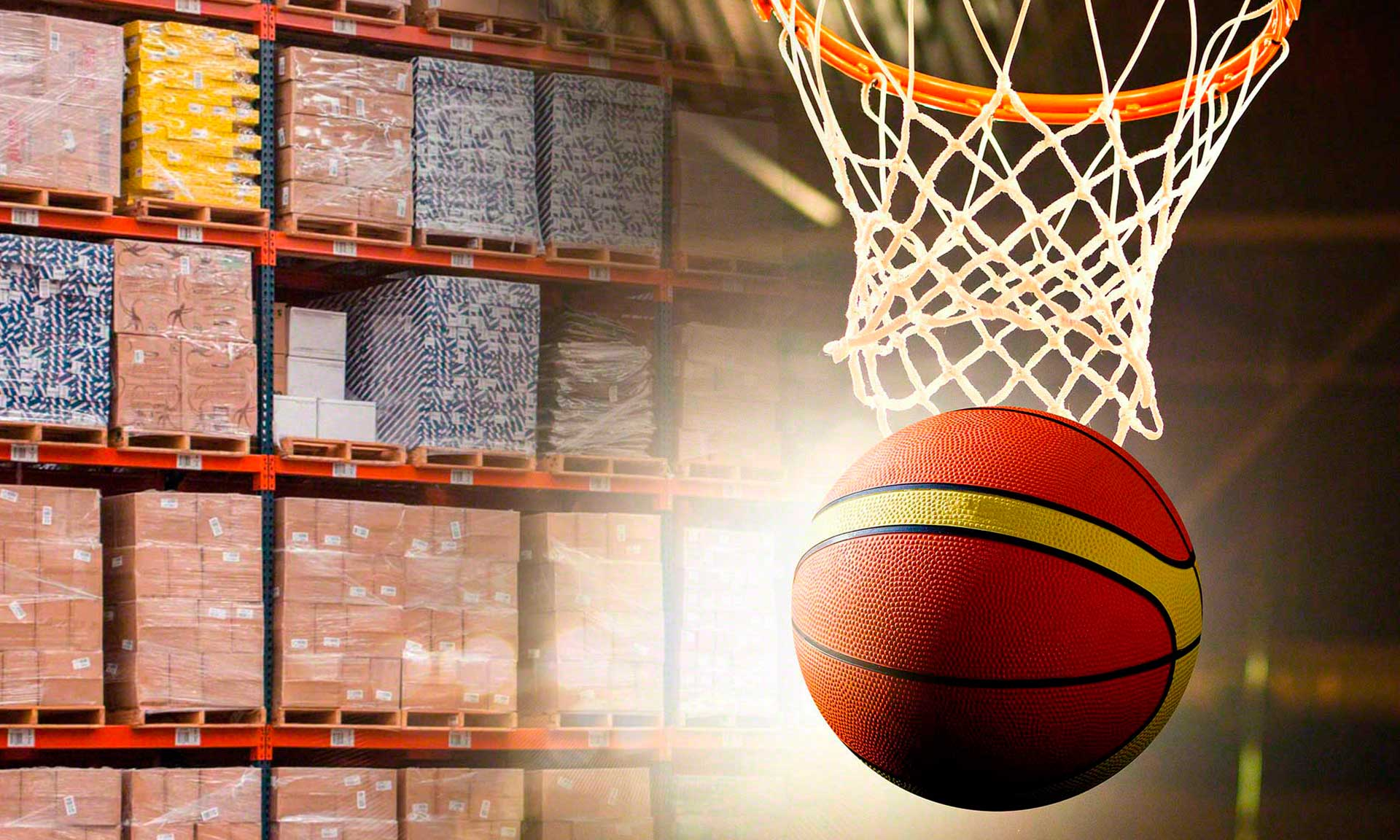 United Sports Brands Europe's warehouse for sporting goods in Belgium