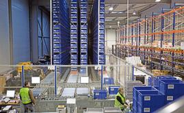 This automated warehouse is made up of two aisles with single-depth racking placed on both sides