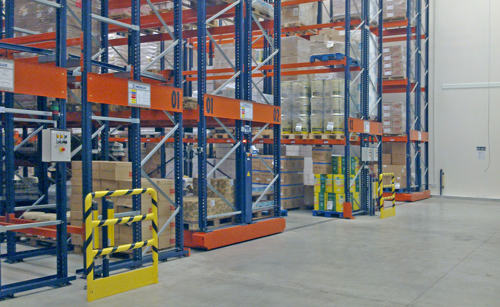 The Movirack system allows direct access to each pallet while also optimising the use of space