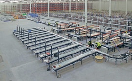 The warehouse was sectored to work with the wide range of products the company stocks