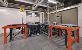 The entry conveyor has a checkpoint, which ensures top condition of all the pallets