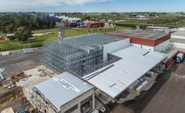 Mecalux designed and built a 1,410 m² clad-rack cold storage with a capacity for more than 3,400 pallets