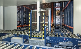 The automated warehouse consists of three storage aisles