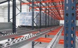 Mecalux provided a block of live pallet racking that can deep store 22 pallets