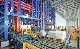Mecalux designed and constructed an automated clad-rack warehouse for BASF
